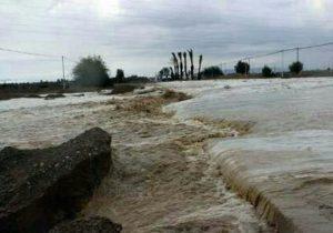 همچنان۴۰ راه روستای حاشیه رودخانه کاجو قصرقند مسدود است