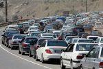جاده کرج-چالوس در قفل ترافیک سنگین