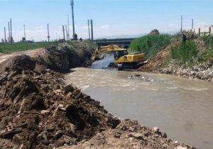 پایان عملیات لایروبی وساماندهی رودخانه های رامیان