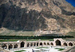مرمت تن زخمی کاروانسرای شاه عباسی قصرشیرین