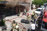 مهار آتش در مطب پزشک شیرازی