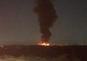 مهار آتش سوزی کارخانه میهن اسلامشهر