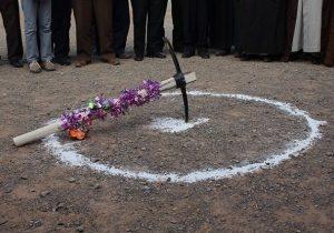 افتتاح وکلنگ زنی۲پروژه شرکت آب وفاضلاب
