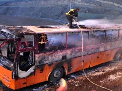 مهارآتش سوزی اتوبوس یزد-زاهدان