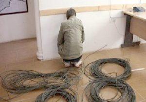 اعتراف به ۲۰ فقره سرقت کابل برق