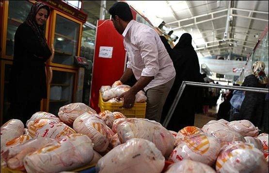باوجودتوزیع روزانه۲۰۰تن گوشت مرغ بانرخ دولتی وکمبودآن درمراکزتوزیع