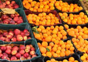 فروش۴۶۰تن میوه  در نوروز