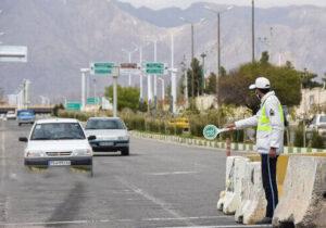 اجرا محدودیت های تردد خودرویی شهر قزوین از ۹ فروردین