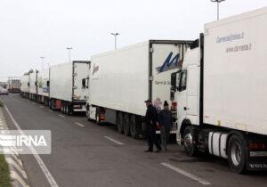 افزایش ۱۷ درصدی صادرات کالا بوسیله کامیون ها از مرز آستارا