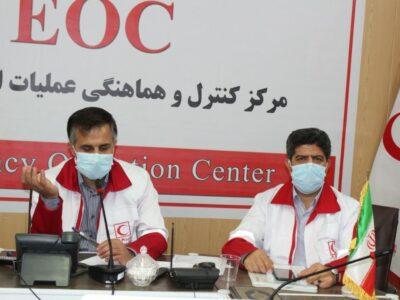 برگزاری مانور ساعت صفر زلزله در هلال احمر زنجان